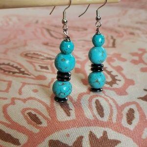 Turquoise Color Earrings/ Dangle Earrings